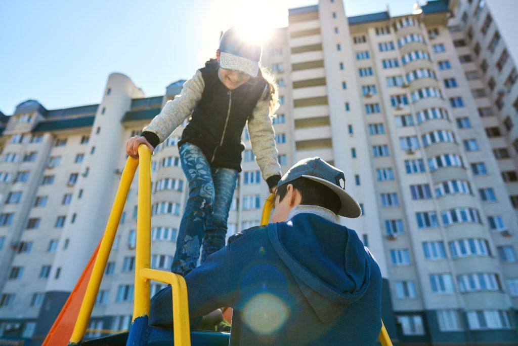 Valorização do imóvel como diferencial do playground para crianças